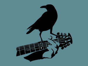 Crow on the guitar