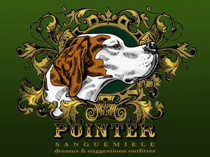 Pointer, noble profile…  born to run in the wind.