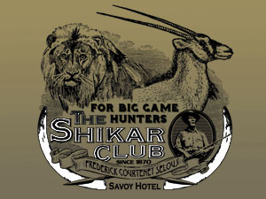the Shikar Club, one of the oldest big-game hunters' association.