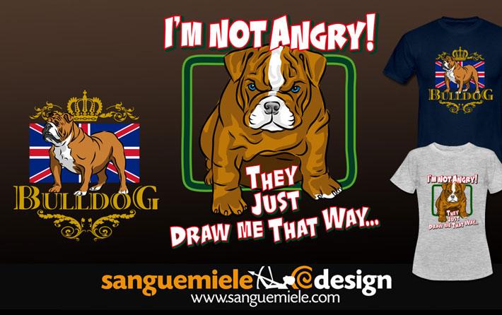 angry bulldog puppy