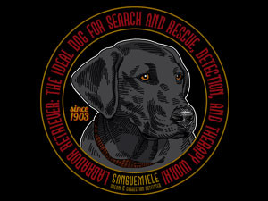 Labrador: dog for search and rescue, detection, and therapy work!