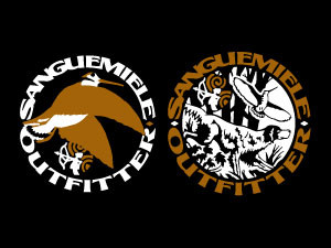 Sanguemiele Outfitter: woodcock logo and forest logo