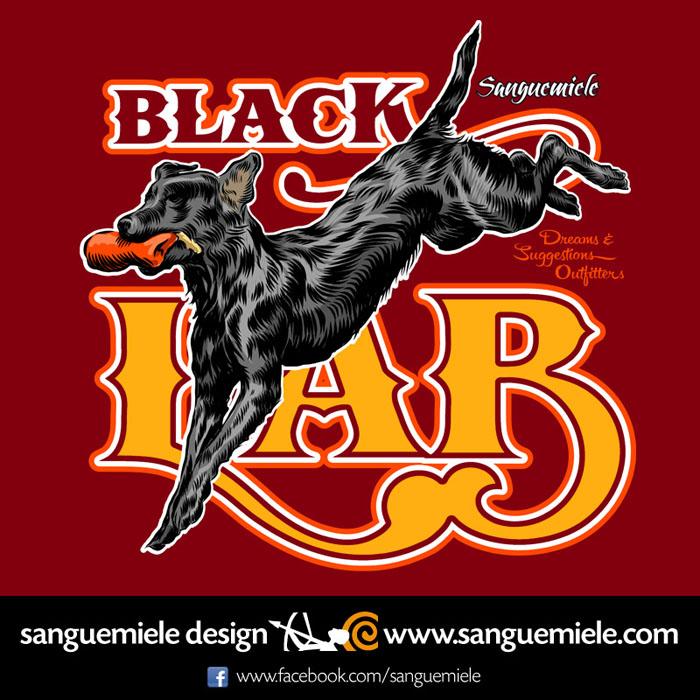 black lab jump