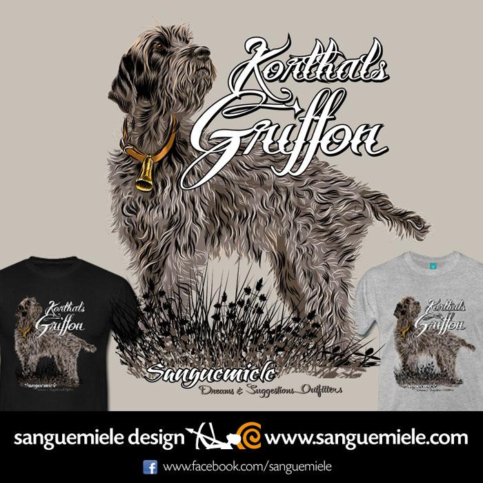 korthals griffon t-shirt design