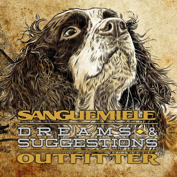 illustration springer spaniel old style